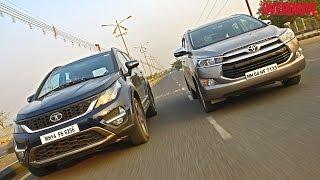 Toyota Innova Crysta vs Tata Hexa  - Comparative Review