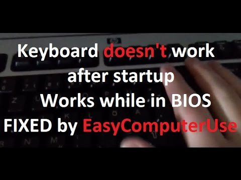 Keyboard doesn't work after startup - Works while in BIOS | FIXED by ECU