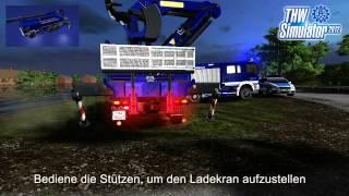 Disaster response unit THW simulator trailer
