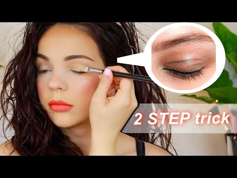2 Step Eyeshadow Trick - To Prevent CREASING