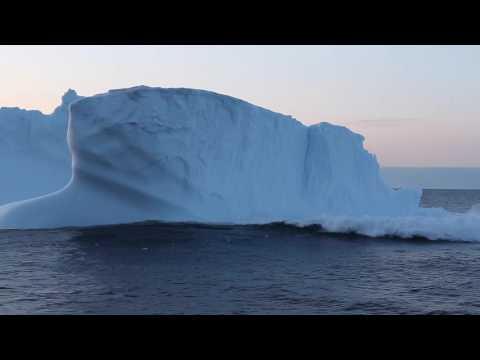 Iceberg Collapse in the Denmark Strait