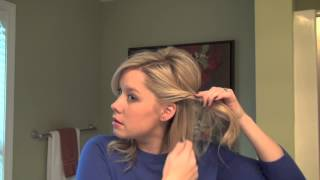 Real Simple Holiday Hair Tutorial Video: Half-Up