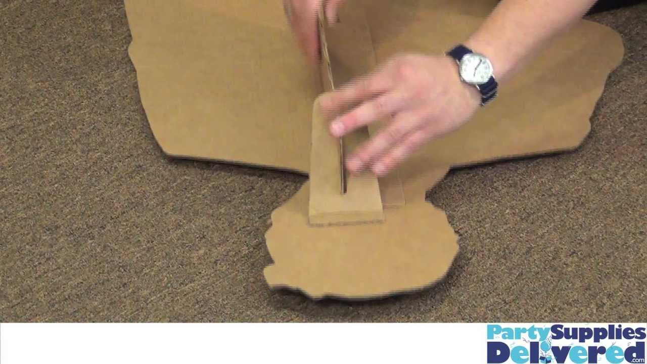 How to Put Together A Cardboard Standup - YouTube