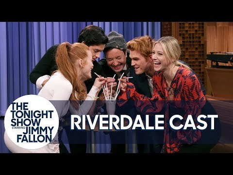 The Cast of Riverdale and Jimmy Kick Off the Riverdale Milkshake Challenge