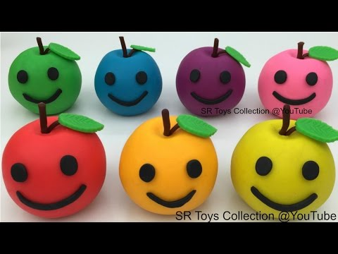Thumbnail: Play and Learn Colours with Playdough Apples with PJ Masks Molds Fun and Creative for Kids