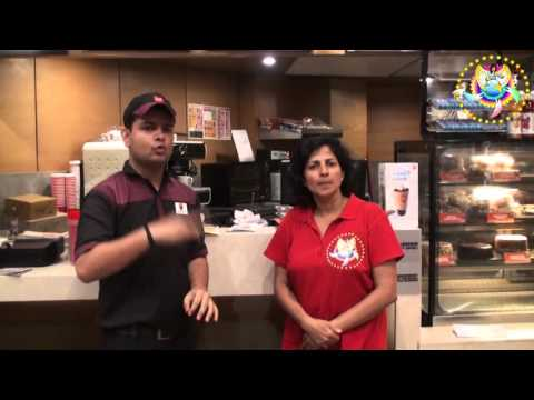 Deaf boy works in Cafe Coffee Day at Huda City Center, Gurgaon India