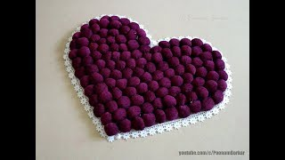 DIY - Door Mat from old clothes | Heart shaped table mat / floor mat | Step by step tutorial