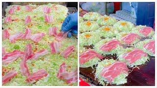 japanese street food - okonomiyaki compilation ( tochigi & kyoto )