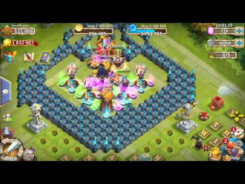 Castle Clash Insane Dungeon 1-7 And 1-8 Tutorial