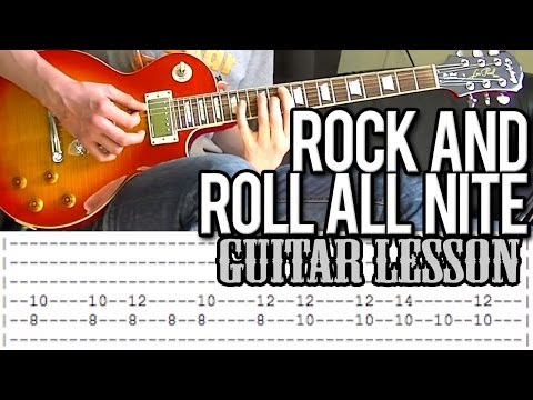 KISS - 'Rock And Roll All Nite' Guitar Lesson (With Tab!)