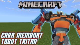 Cara Membuat Tobot Tritan (Tobot X Y Z) Di Minecraft