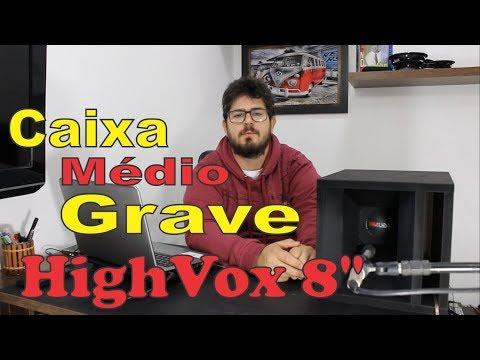 Caixa de Médio Grave High Vox 8 350w Projeto Rodrigo Flores