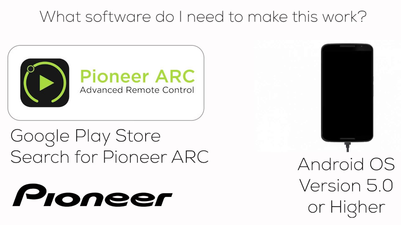 how to deh s1000ub pioneer arc app for android phone [ 1280 x 720 Pixel ]