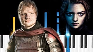 Ed Sheeran Hands Of Gold Game Of Thrones S7E1 Piano Tutorial