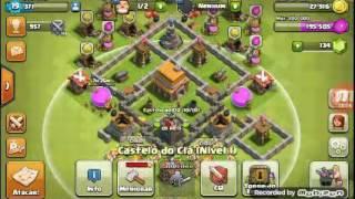 Clash of clans saques de Ouro e lx