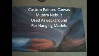 STAR TREK II Mutara Nebula Scene Built From  Polar Lights 1 350 Scale Models