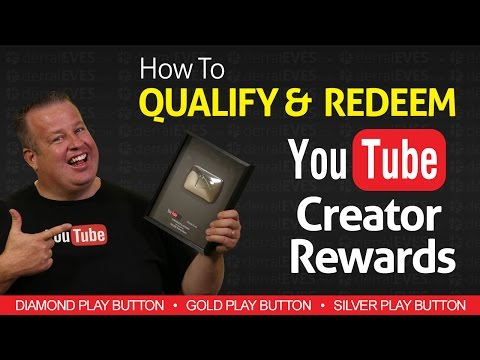 How to Redeem YouTube Creator Rewards - Silver Gold & Diamond Play Buttons