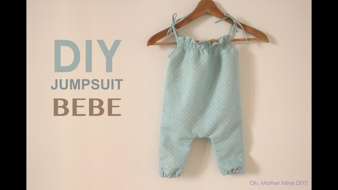 DIY Jumpsuit para bebe (patrones gratis) - YouTube