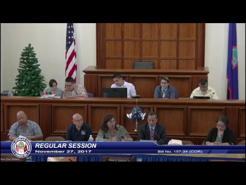 34th Guam Legislature Morning Session - November 27, 2017