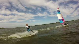 Wakeboarding Dart 18 catamaran GoPro