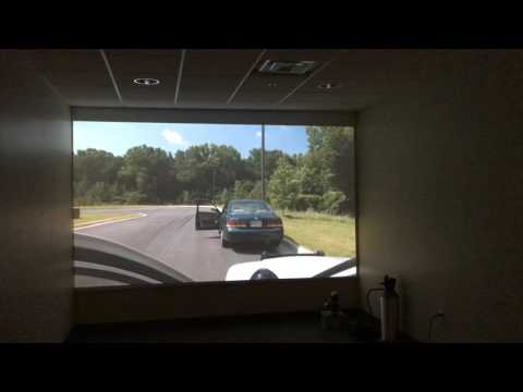 Officer training simulation video at Oxford Police Department