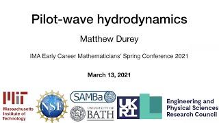IMA ECM Spring Confęrence 2021 - Pilot-wave hydrodynamics