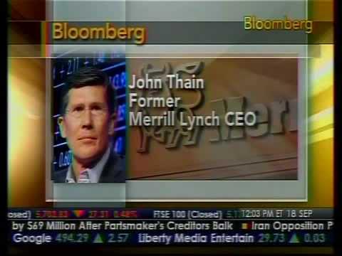 Former Merrill CEO John Thain Speaks Out - Bloomberg - YouTube