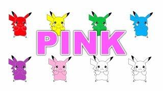 Pikachu Color School - Learning Colors Nursery Rhymes