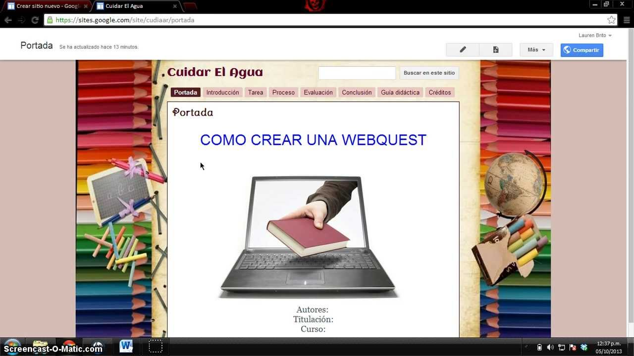Como Crear Una Webquest Con Google Site Youtube
