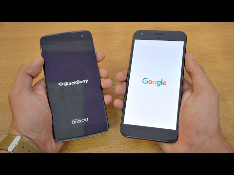 BlackBerry DTEK60 vs Google Pixel XL - Speed Test! (4K)