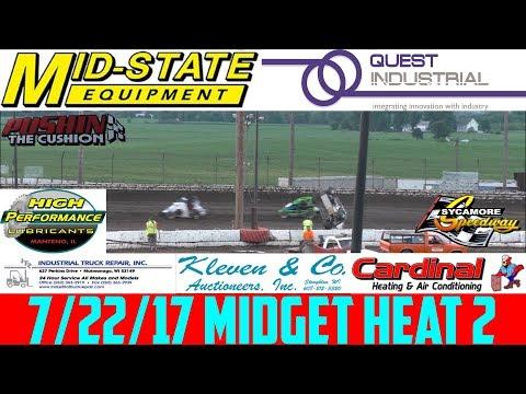 7/22/17 - Sycamore Speedway - Badger Midget - Heat 2