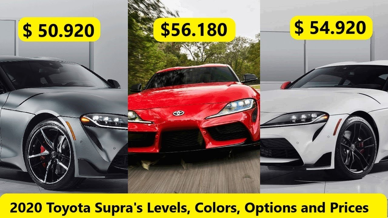 2020 Toyota Supra Levels, Colors, Options and Prices - YouTube