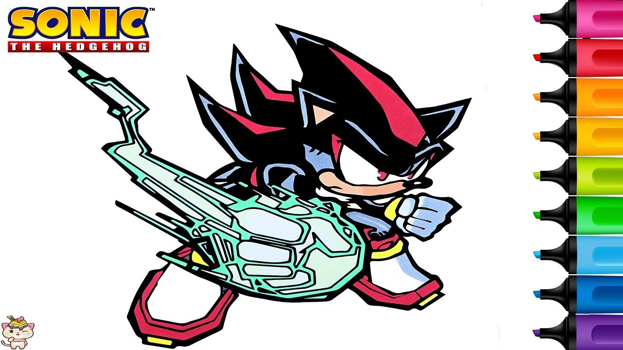 Sonic The Hedgehog Coloring Book Pages Shadow Rainbow Splash Youtube