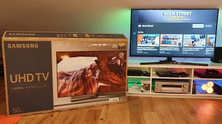 "Samsung 50"" 4K UHD RU7400 Smart TV (2019) Unboxing and Setup"