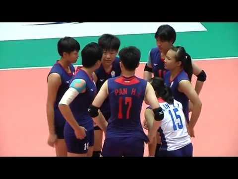 HL  SMM 12th Asian Est Cola Women's U17 Volleyball Championship / TPE - HKG