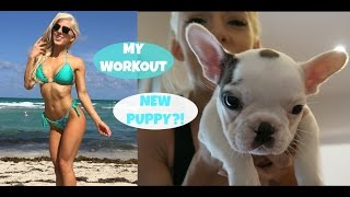 NEW PUPPY?! | Leg Work Out with Anllela Sagra & Mike Rashid