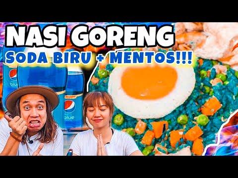 ABSURD! NASI GORENG + SODA BIRU = PEPSI BLUE FRIED RICE!!!