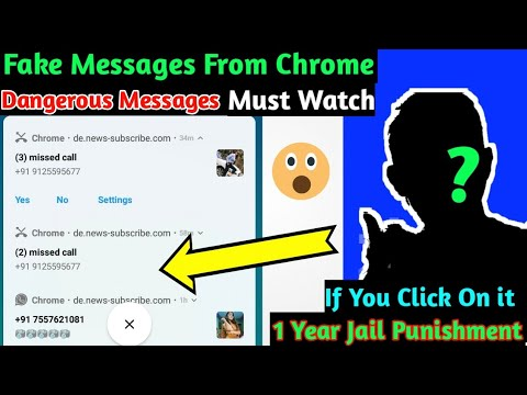 Fake Missed Calls & WhatsApp messages From Chrome