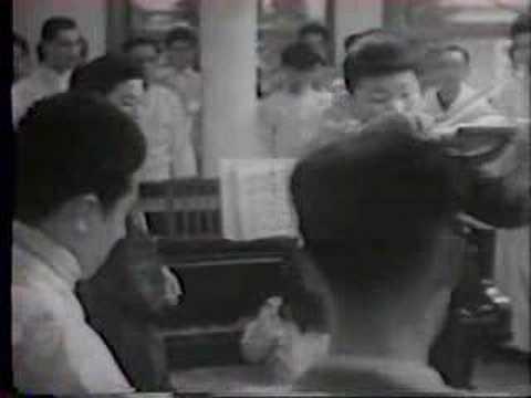 Shigeo Watanabe plays the violin