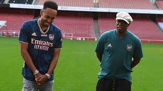 'I WANT TO BECOME A LEGEND!' | Aubameyang and Wrighty | Walk & Talk at Emirates Stadium