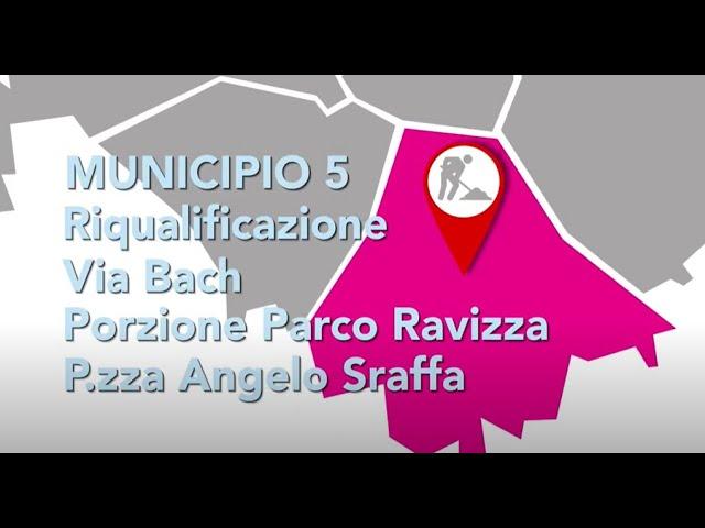 Municipio 5 - Riqualificazione via Bach, porzione Parco Ravizza e piazza Angelo Sraffa