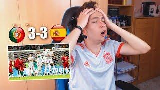 REACCIONES DE UN HINCHA Portugal VS España 3-3 MUNDIAL RUSIA 2018  [ByDiegoX10]