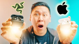 BETTER THAN AIRPODS PRO! The NEW Razer Hammerhead True Wireless Pro ANC Earbuds Review & Comparison