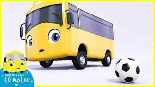 Buster Plays Soccer Song | Go Buster | Baby Cartoons | Kids Songs | ABCs and 123s