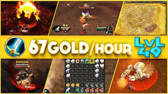 Classic WoW - 67 Gold/Hour at LVL 49 - 1 Hour with Frost.