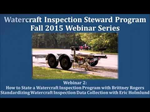 Webinar Series: How to Start a Watercraft Inspection Program (November 2015)