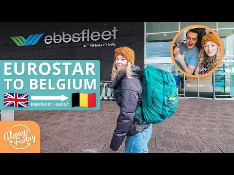 FROM EBBSFLEET (UK) TO GHENT (BELGIUM) ON THE EUROSTAR - PLUS A TOUR OF OUR SWANKY AIRBNB PAD