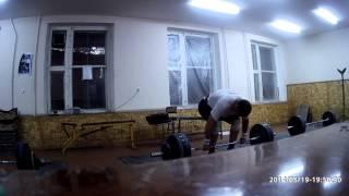 Тяжелая атлетика - взятие на грудь 125кг х 2раза