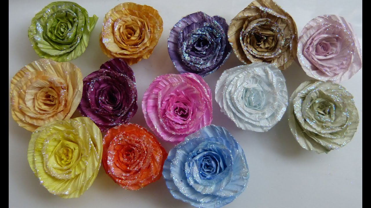 how to make twisted ribbon flowers