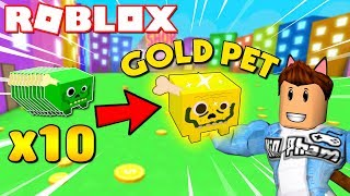 Roblox | KIA EVOLVE 10 BABY ZOMBIE INTO GOLD PET-🐾 Pet Simulator | KiA Pham